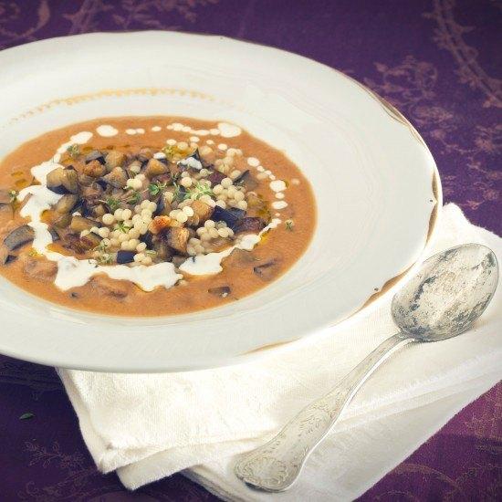 Rezept Auberginensuppe mit Lamm