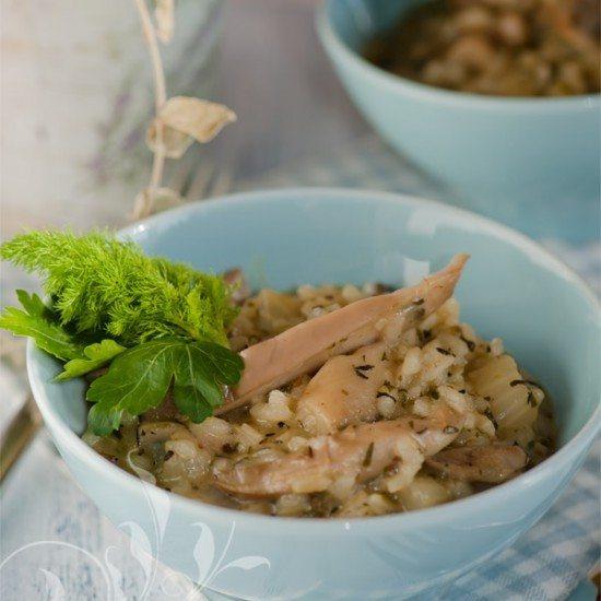 Rezept Austernpilz-Fenchel-Risotto
