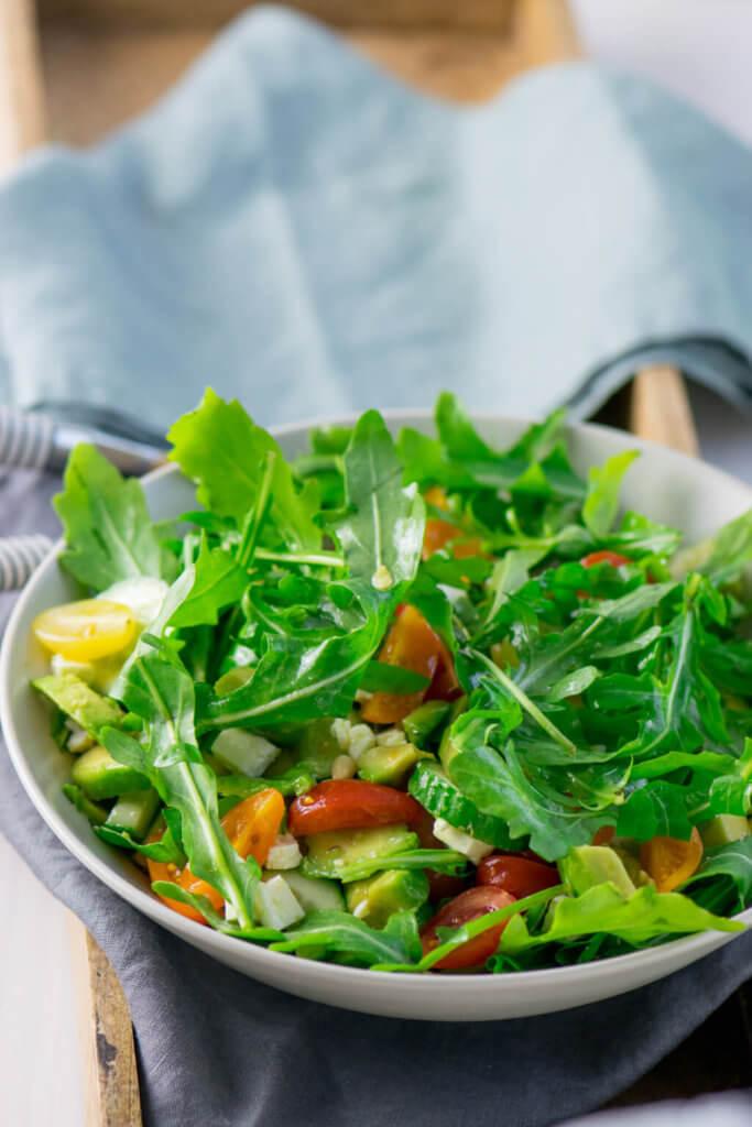 Rezept Avocado Feta Salat mit Rucola