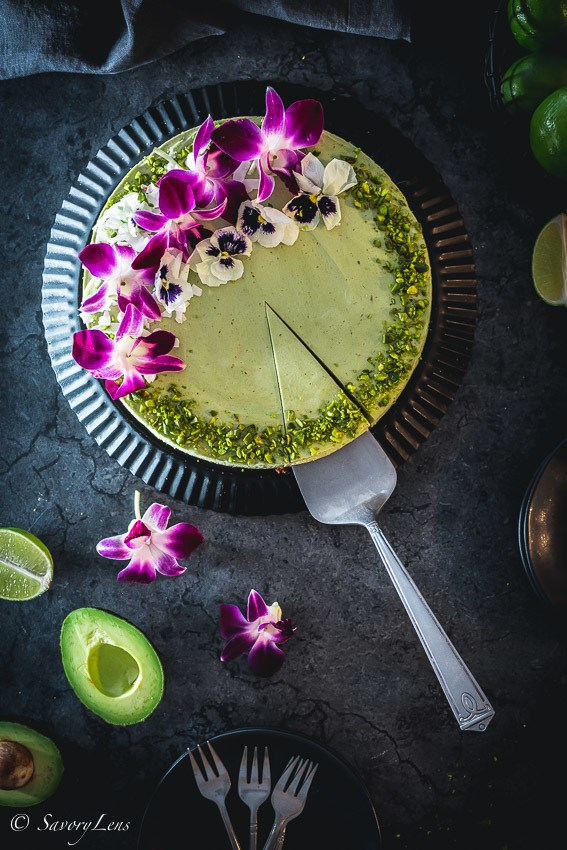 Rezept Avocado Limetten Cheesecake