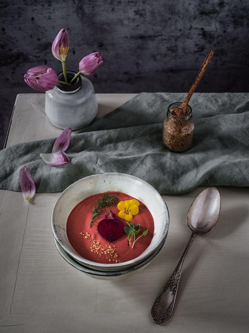 Rezept Ayurvedische Rote Beete Suppe mit Kokosmilch