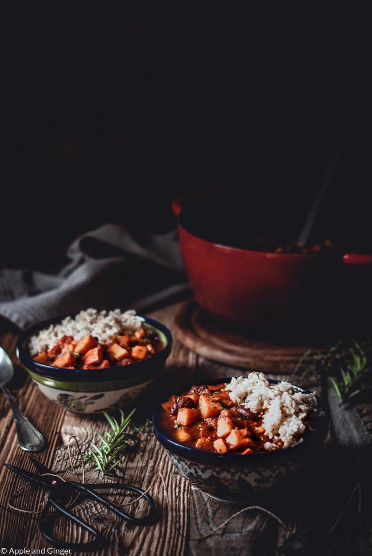 Rezept Ayurvedisches Kürbis-Süßkartoffel-Chili