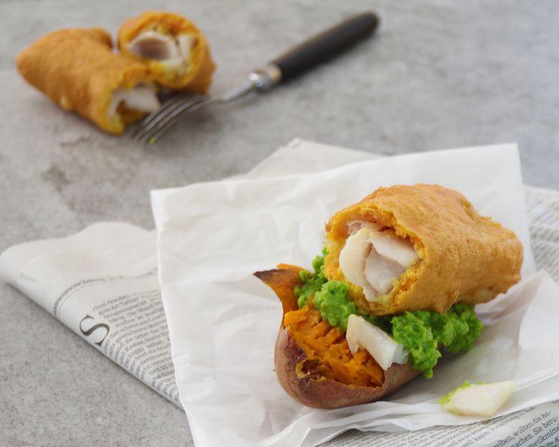 Rezept Backkartoffel Fish and Chips
