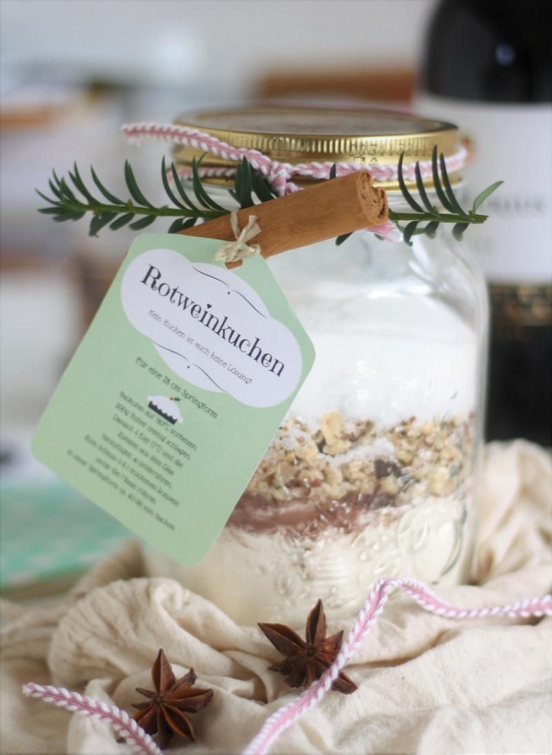Rezept Backmischung im Glas Geschenke aus der Küche