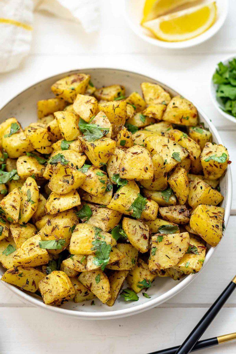 Rezept Backofenkartoffeln auf orientalische Art