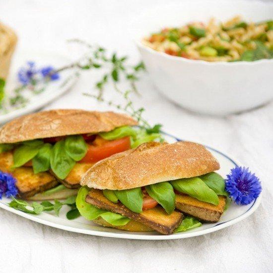 Rezept Baguette mit knusprigem Tofu