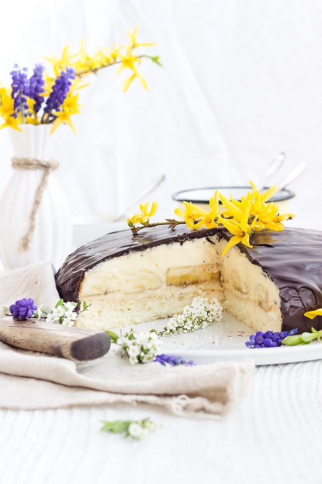 Rezept Bananen Creme Torte