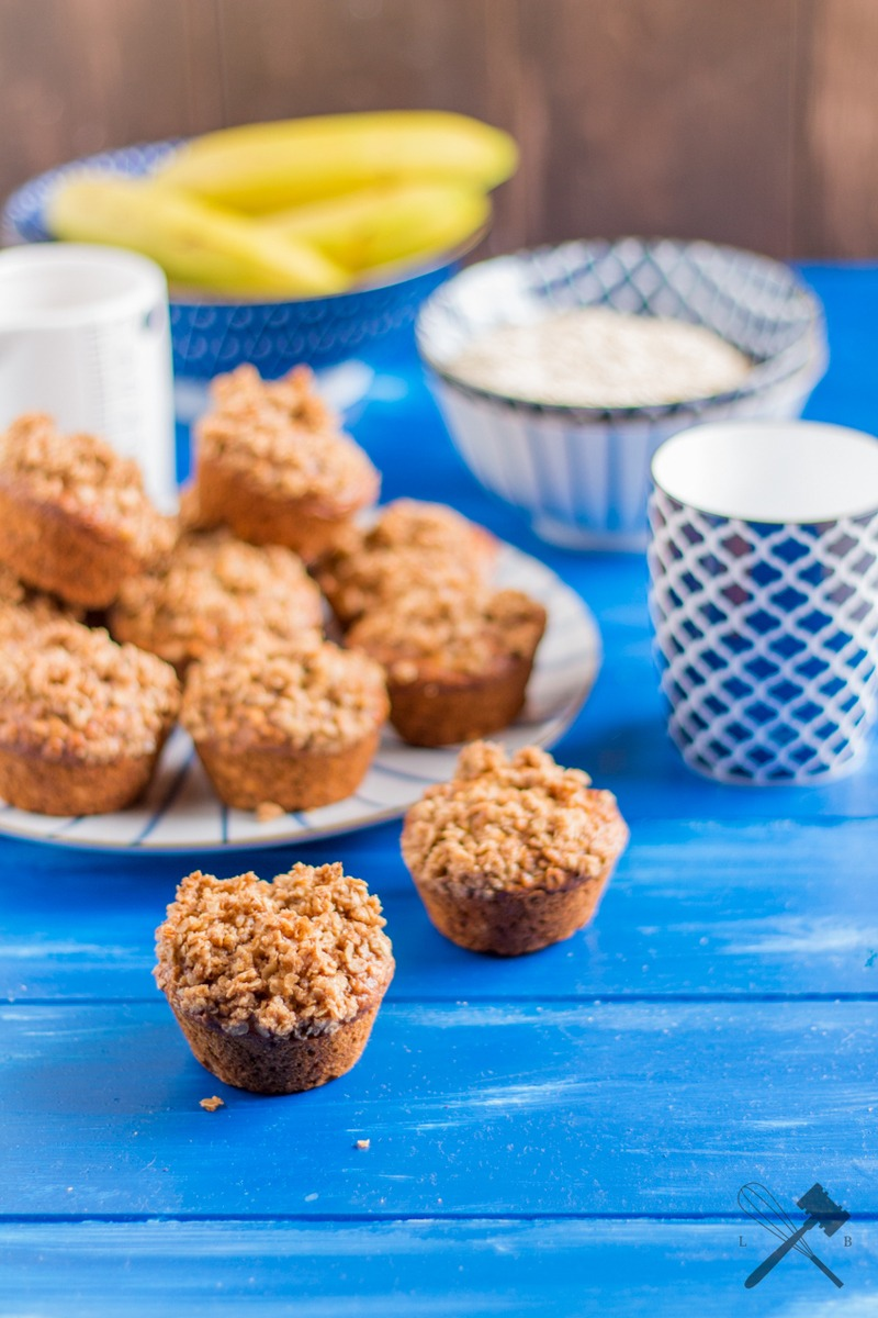 Rezept Bananen Haferflocken Muffins