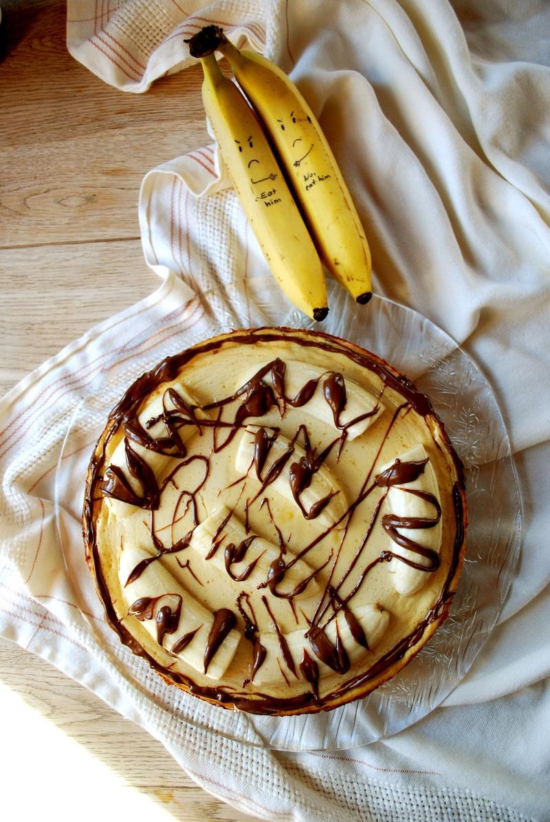 Rezept Bananen-Käsekuchen mit Nuss Nougat Creme
