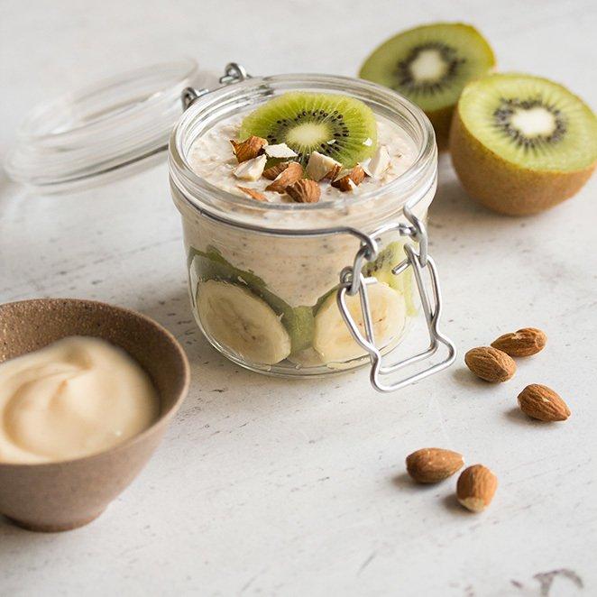 Rezept Bananen-Kiwi Overnight Oats