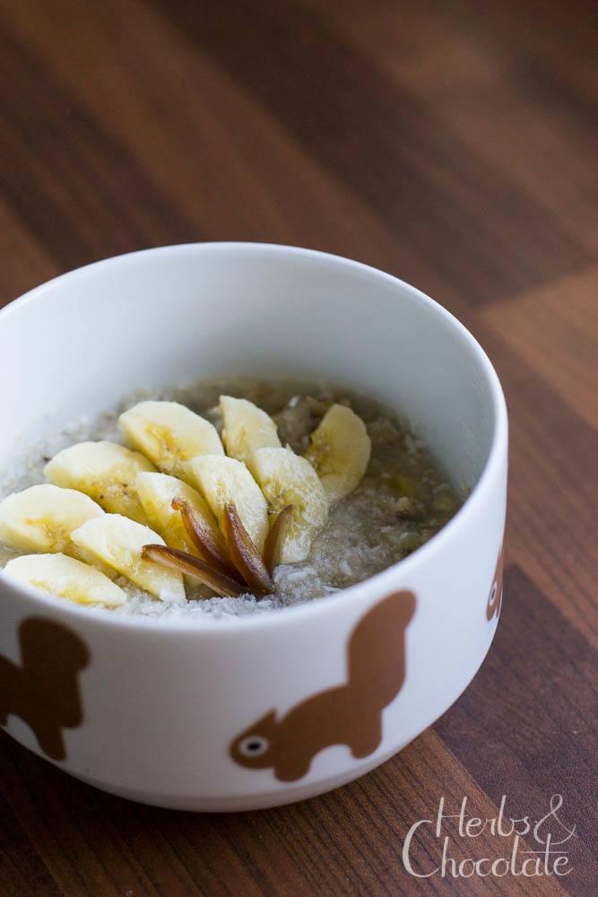 Rezept Bananen-Porridge mit Datteln