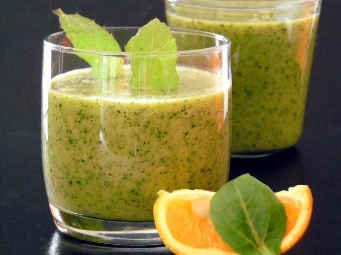 Rezept Bananen Smoothie in grün