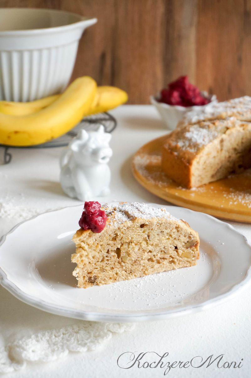 Rezept Bananen Walnuss Brot mit Schwarzkirschbutter