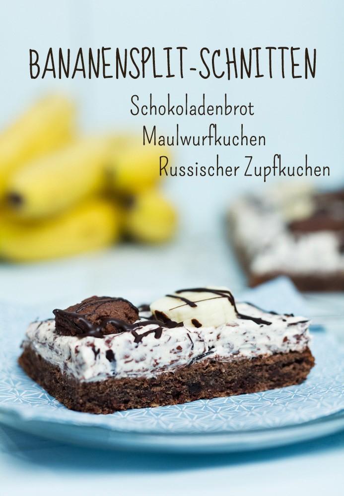 Rezept Bananensplit-Schnitten