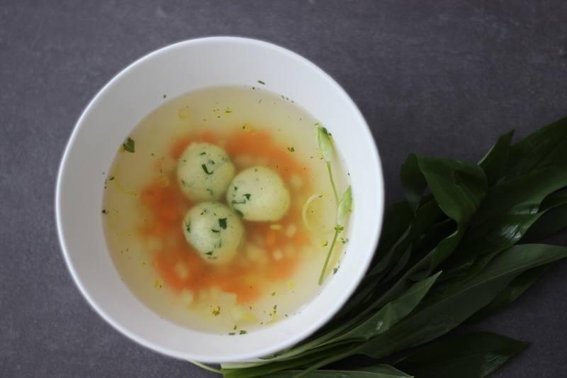 Rezept Bärlauch-Grießklößchen-Suppe