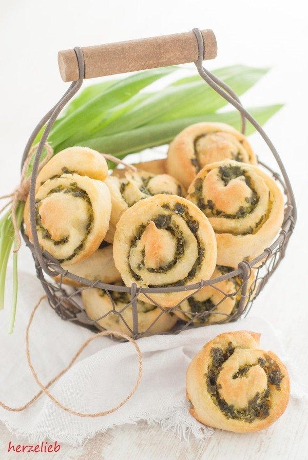 Rezept Bärlauch-Kartoffel-Schnecken mit Parmesan