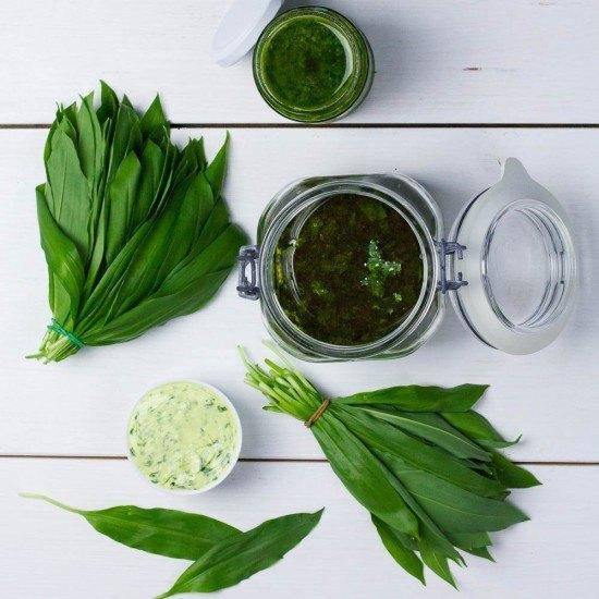 Rezept Bärlauch Pesto, Öl & Butter