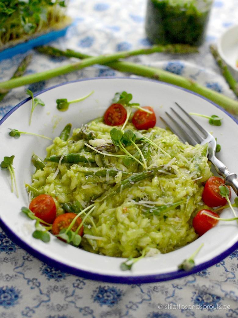 Rezept Bärlauch-Risotto mit grünem Spargel