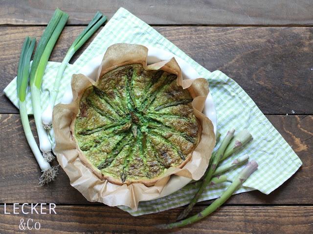 Rezept Bärlauch-Spargel-Quiche im Brotteig