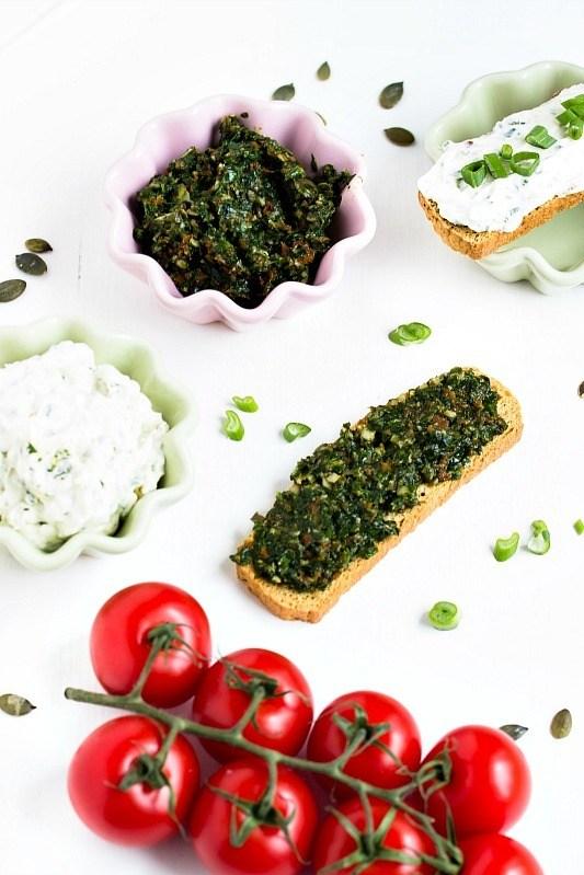 Rezept Bärlauch-Tomaten-Pesto und Bärlauch Aufstrich/Dip