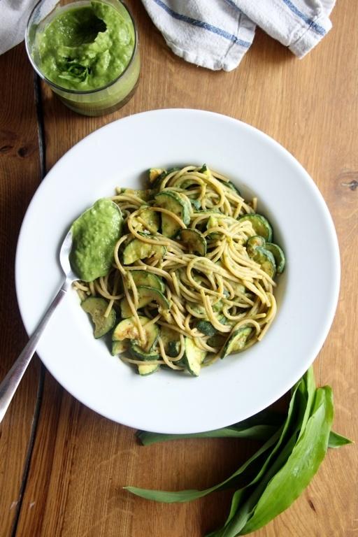 Rezept Bärlauchcreme mit Spaghetti