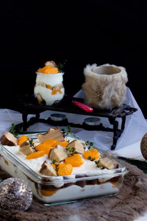 Rezept Baumkuchen-Dessert mit Gewürzorangen + Licor43