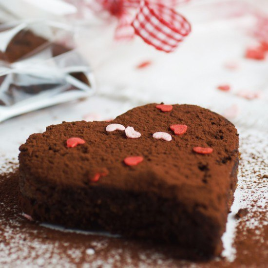 Rezept Be my valentine... Brownie-Herzen