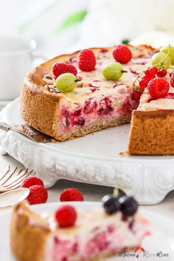 Rezept Beerenkuchen mit Vanille-Quarkcreme