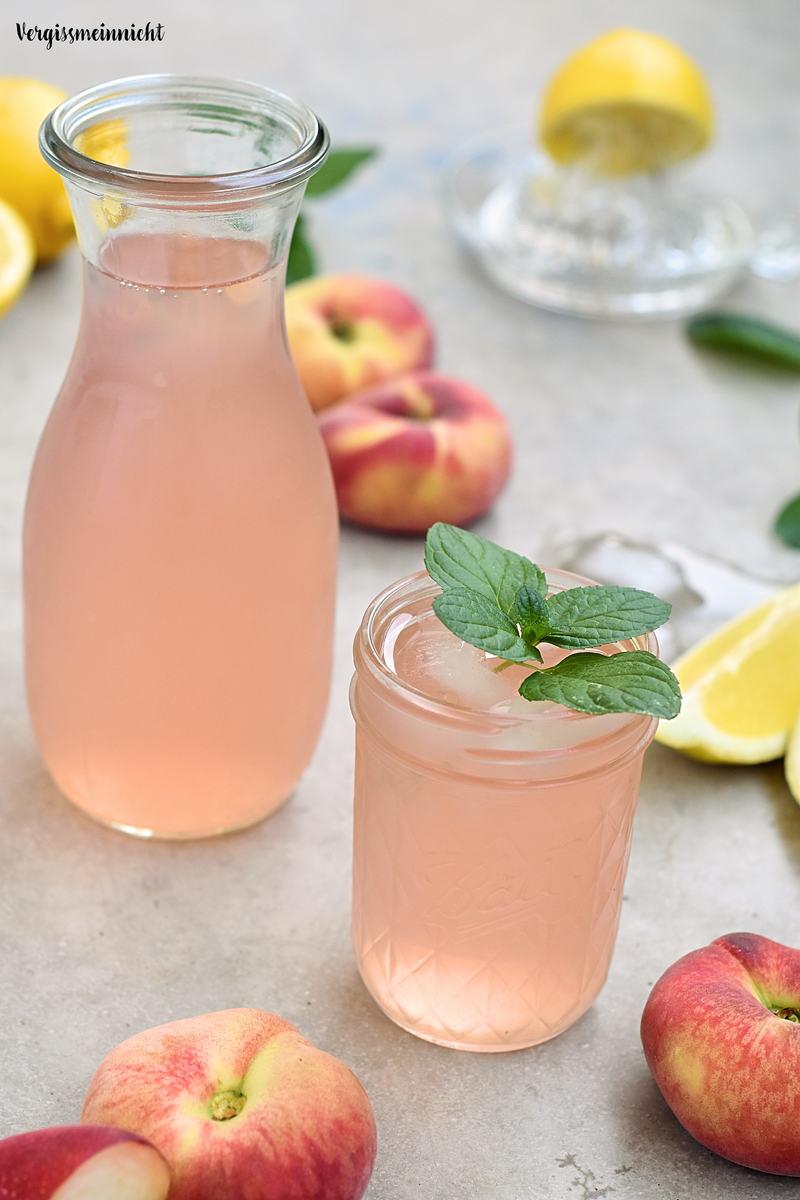 Rezept Bergpfirsich Limonade – ohne Zucker