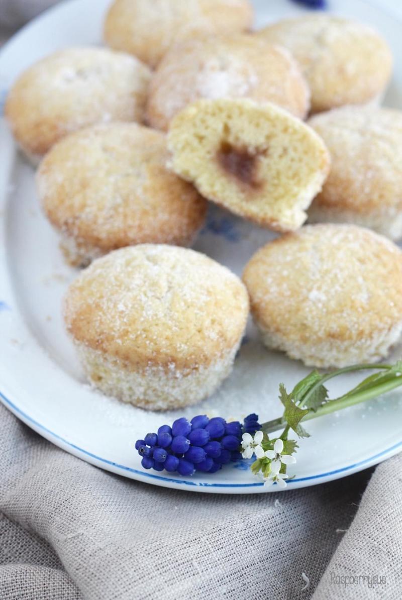 Rezept Berliner Muffins mit Rhabarberfüllung
