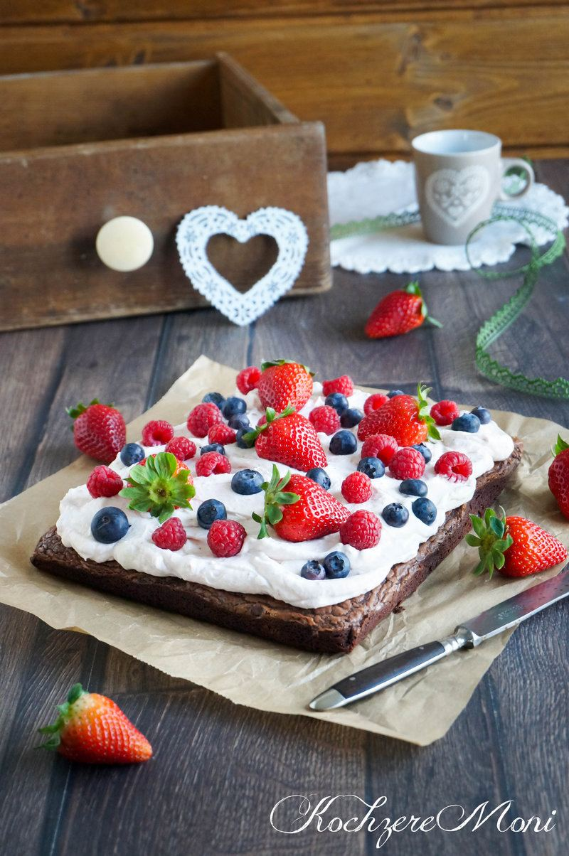 Rezept Berry milk chocolate brownie