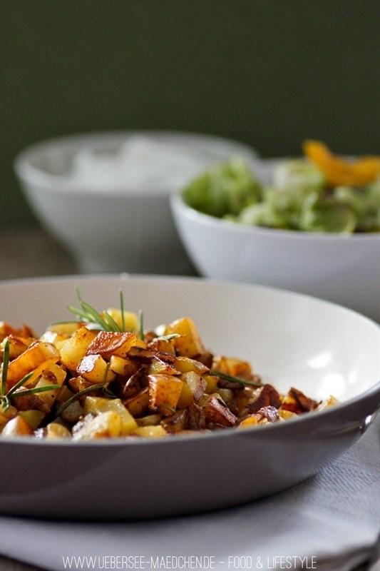 Rezept Beste schnelle Bratkartoffeln mit Rosmarin
