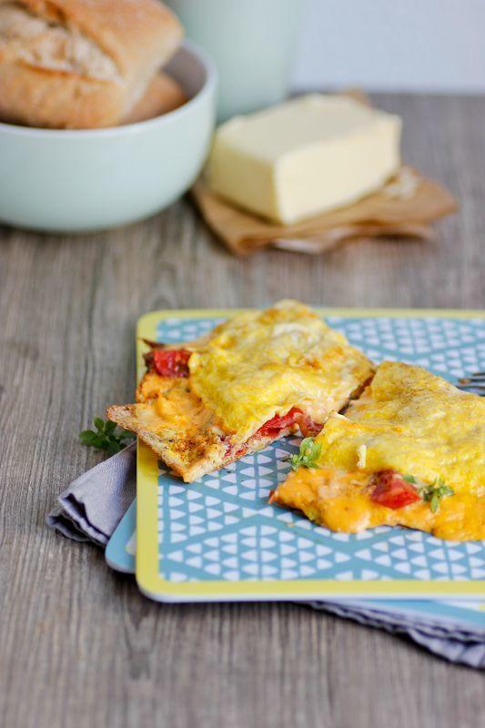 Rezept Bestes Omelette mit schmelzendem Käsekern