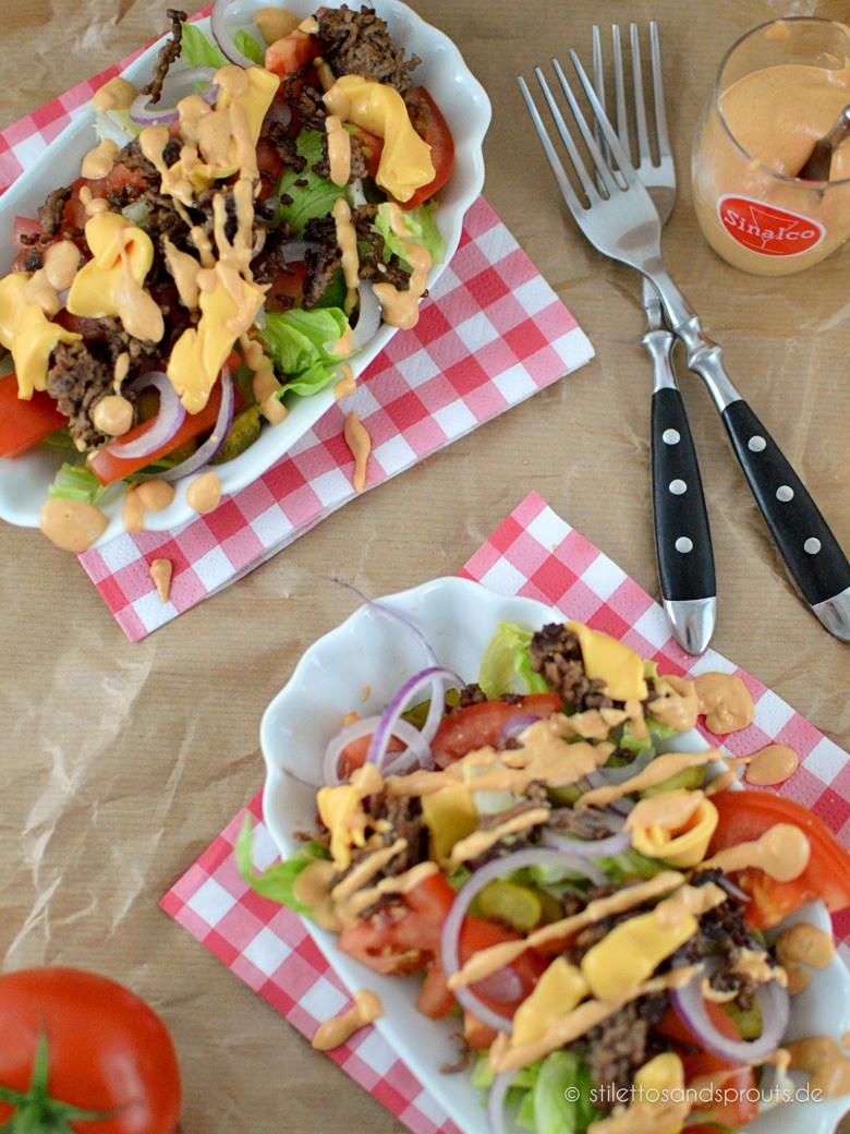 Rezept Big Mac Salat