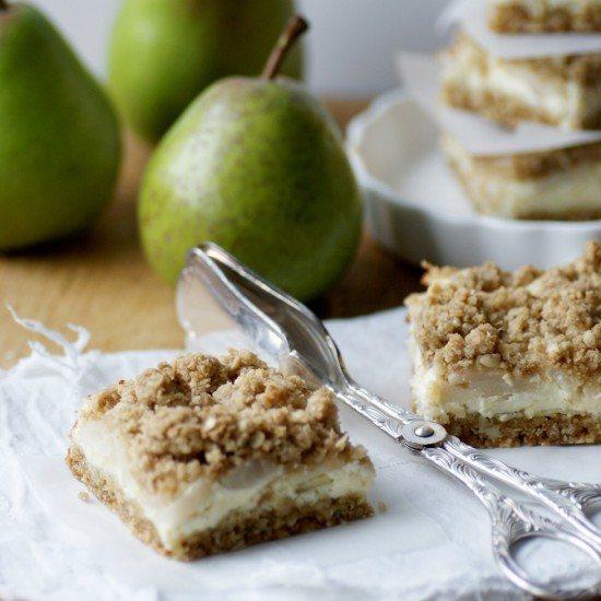 Rezept Birnen-Cheesecake mit Crunchy-Streuseln