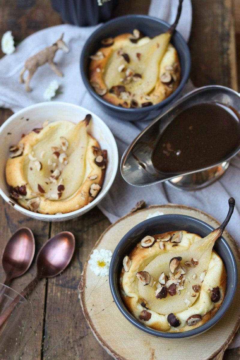 Rezept Birnen-Quarkauflauf mit Schokoladensauce