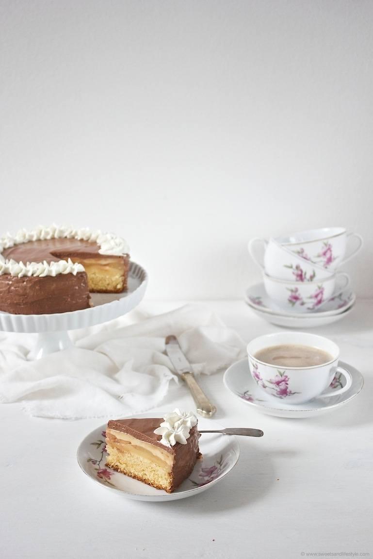 Rezept Birnen Schokomousse Torte
