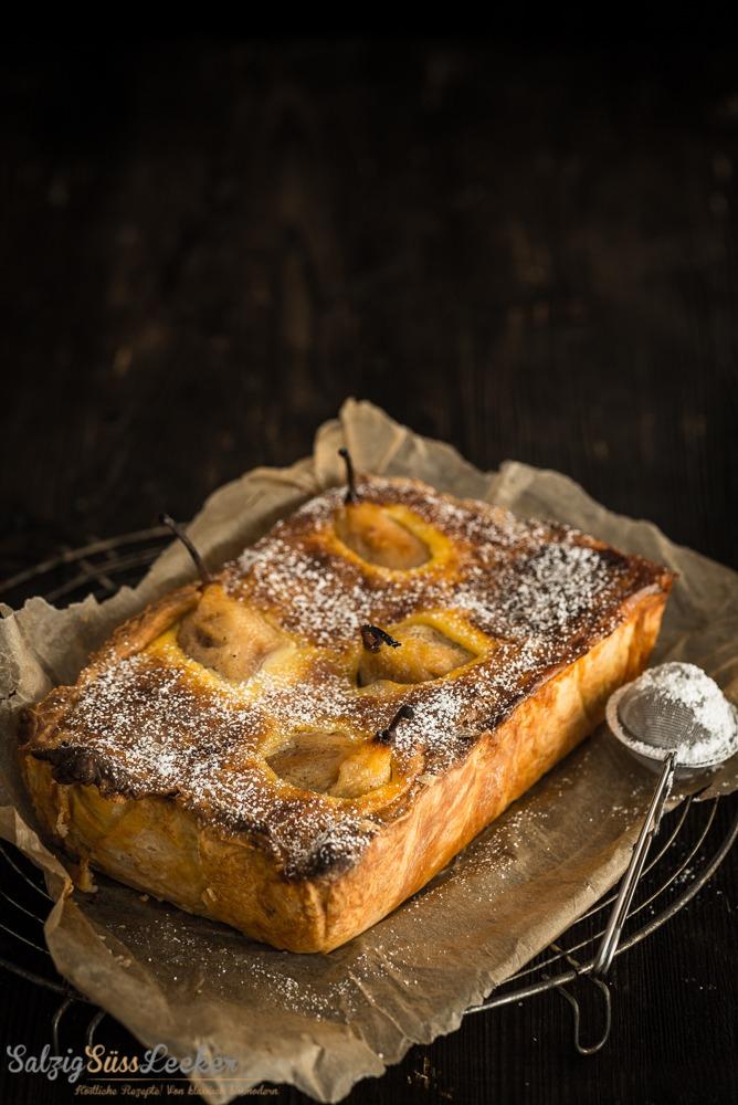 Rezept Birnen-Vanillecreme-Kuchen