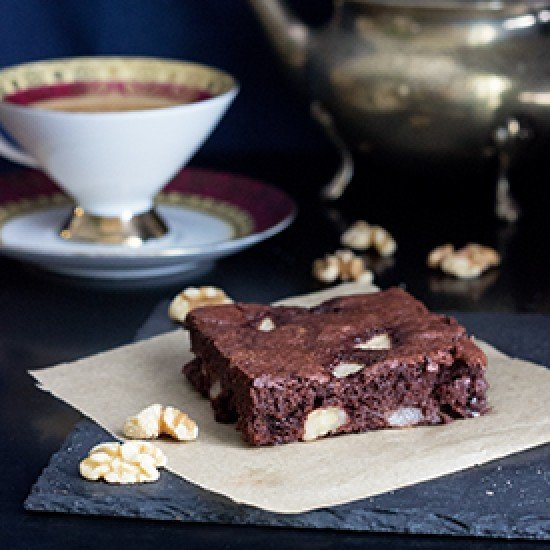 Rezept Birnen-Walnuss-Brownies