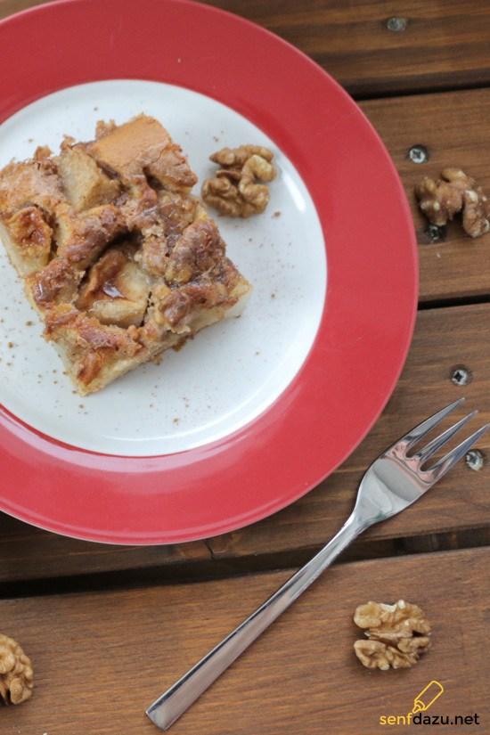 Rezept Birnen Walnuss Kuchen mit Zimt-Sirup