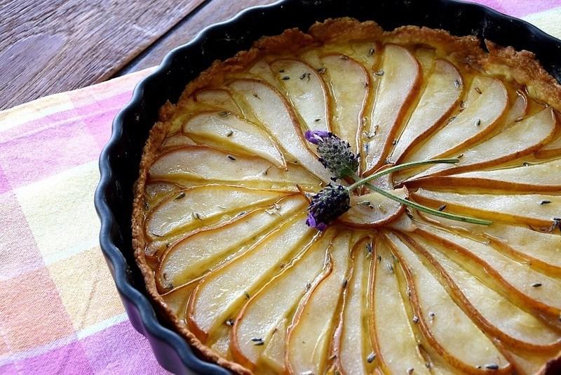 Rezept Birnentarte mit Lavendel