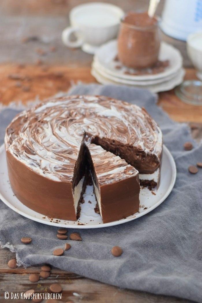 Rezept Black & White Marmor Schoko Torte