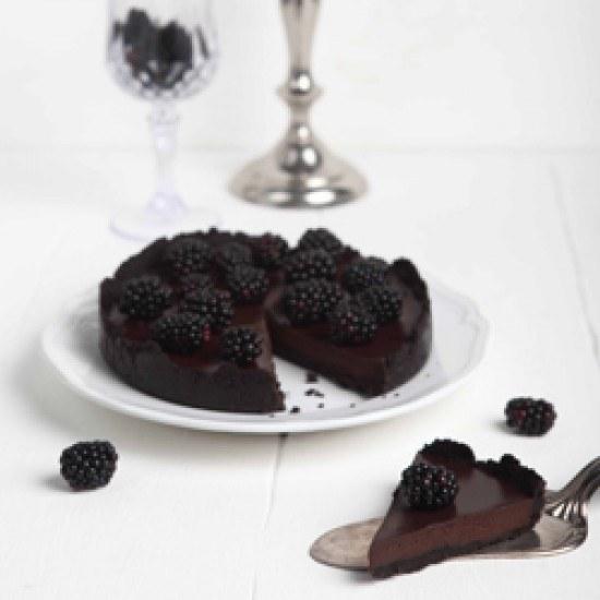 Rezept blackberry oreo chocolate tart