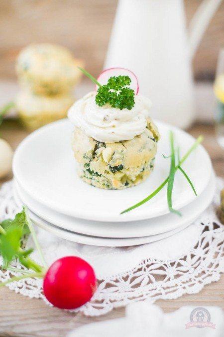 Rezept Blattspinat-Feta Cupcakes