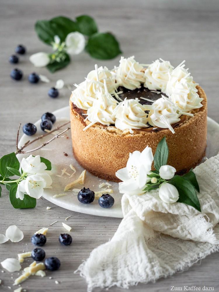 Rezept Blaubeer-Cheesecake mit weißer Schokolade