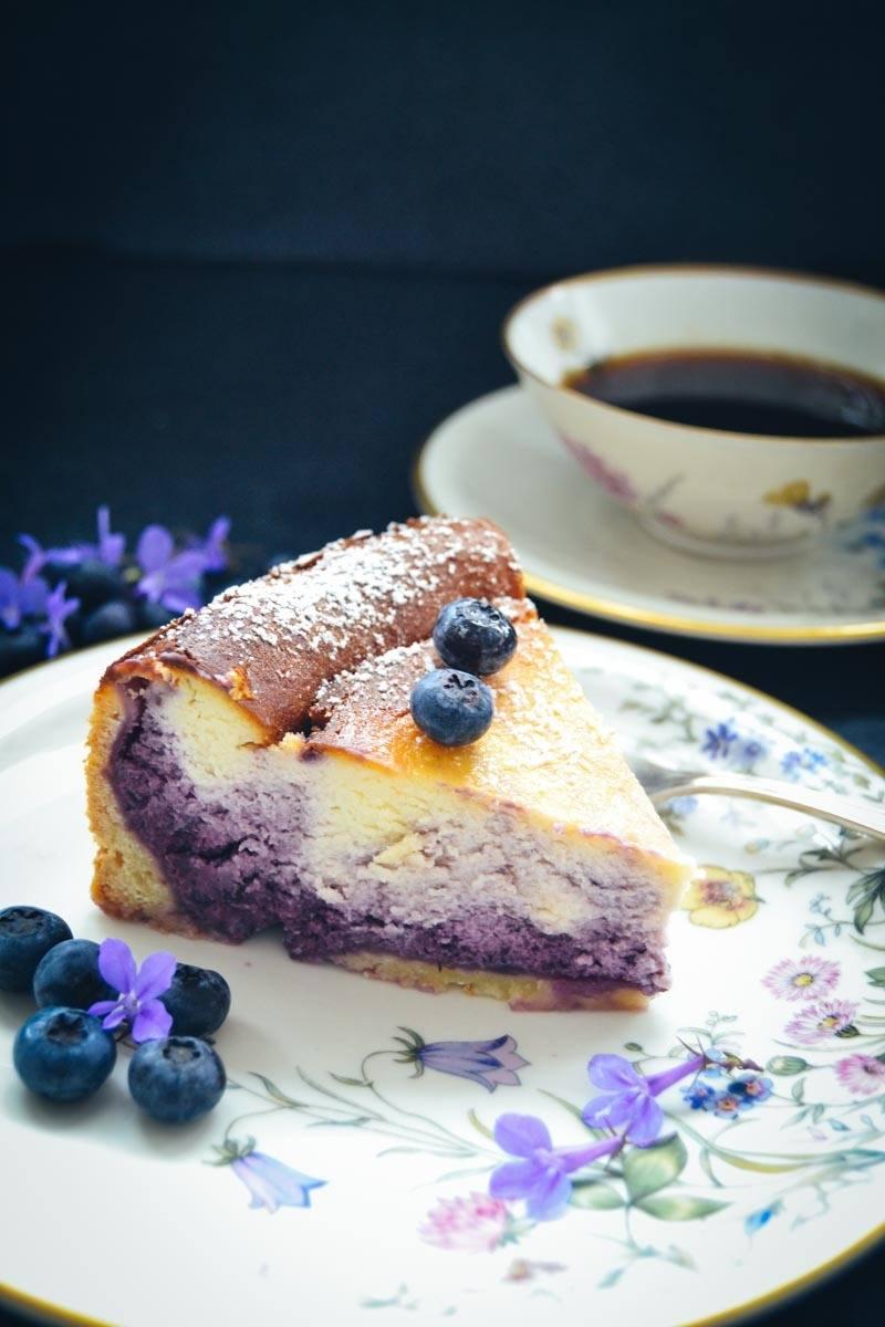 Rezept Blaubeer Käsekuchen - Quarkkuchen Rezept