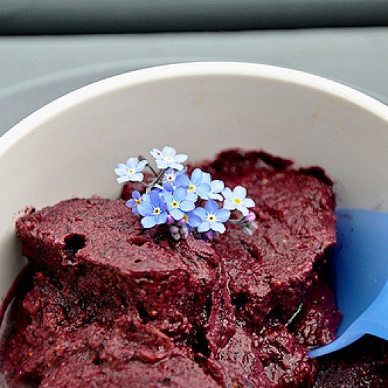 Rezept Blaubeer Lavendel Sorbet