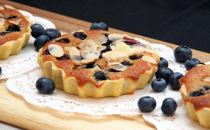 Rezept Blaubeer-Mandel-Tartelettes