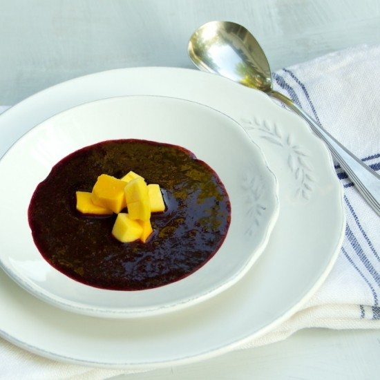 Rezept Blaubeer-Mango Suppe
