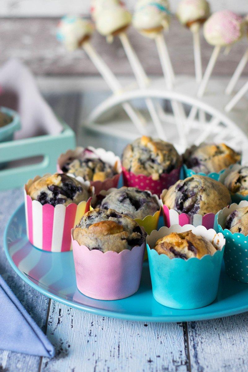 Rezept Blaubeer Muffins mit weißer Schokolade